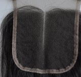 중앙 또는 Free/3 부품에 의하여 표백되는 매듭 브라질 Virgin 머리 레이스 상단 마감 스위스 레이스 처리되지 않은 느슨한 파 머리 Lbh272