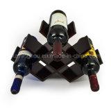 Estante plegable del vino del vino de la mariposa del estante de las botellas de madera del asimiento 8