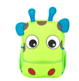 Garrafas coloridas Kids Neoprene Mochilas Kids Zoo Animal Backpack