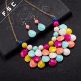 De gouden Geplateerde die Juwelen van de Manier met Veelkleurige Traan Resin&#160 worden geplaatst;