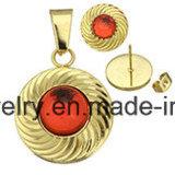 [شينم] يثبت مجوهرات نمط نوع ذهب يصفح أذن دعامة ومدلّاة مع [بلو ستون] ([إرس6998])