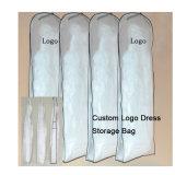Sacchetto di indumento di vetro del vestito da cerimonia nuziale del filato di formato su ordinazione Metà-Trasparente