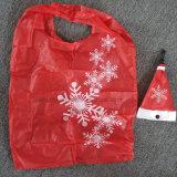 Sac plié portatif amical de cadeau de promotion de Noël d'Eco