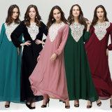 도매 이슬람교 이슬람교도 결합 긴 소매 Abaya Kaftan (xy163)