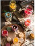 Candela in vaso di vetro, candela della cera di colore di fragranza dell'aroma delle yankee