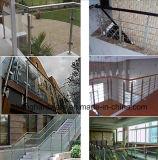 Guarniciones de aluminio movibles de la barandilla de la fibra de vidrio, barandilla al aire libre de la barandilla del diseño de la escalera