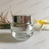 choc 15g cosmétique en verre transparent pour l'empaquetage de Skincare (PPC-GJ-015)