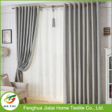 Buenas cortinas de ventana contemporáneas elegantes al por mayor del poliester densamente