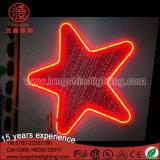 Luz de neón multicolora del adorno de la estrella del LED para la decoración de interior al aire libre pendiente de la Navidad