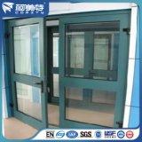Perfil de aluminio de la capa verde europea del polvo para la ventana abierta