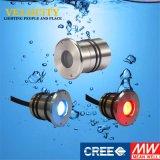1With2With3W 24V IP68 RGBの表面によって取付けられるアクアリウムの水中プールの照明