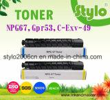 Npg67/C-Exv-49/Gpr53 Toner van de Laserprinter voor Canon, Toner Patroon voor Canon