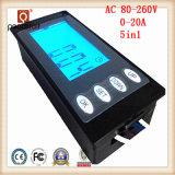 Времени энергии тока напряжения AC 20A 5in1 метр в настоящее время цифровой