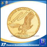 기념품 승진을%s 금에 의하여 도금되는 도전 동전