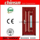 Solos diseños de madera de la flor de la puerta