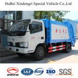 euro automatico idraulico di caricamento di 5cbm Dongfeng camion di giro del costipatore dell'immondizia dei 4 barilotti