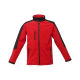 Revestimento Windproof respirável impermeável de Softshell da cor vermelha dos homens