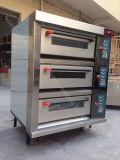 Commercieel 3 Dek van uitstekende kwaliteit 9 Dienbladen draad-Verwarmt Elektrische Oven