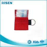 Heißer Leben-Schlüssel der Verkauf CPR-Schablonen-Keychain/CPR des Gesichts-Shield/CPR