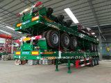 De 3 árboles del plano acoplado semi para el transporte pesado de la máquina