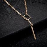 L'or en alliage de zinc de collier de femmes de modèle simple de collier de Hotsale de mode de l'Europe a plaqué