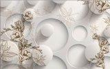 Красивейшей плитки предпосылки искусствоа 3D застекленные стеной (VPA6A596)