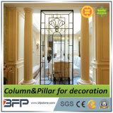 Coluna de mármore bege branca decorativa, colunas de mármore