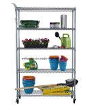 DIY ajustável Chrome Flower Display Wire Shelving Rack para uso de estufa