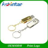 Unidad flash USB de metal llavero USB Pendrive de giro