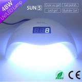 48W低熱モードハイエンドLCDの表示が付いている紫外線ゲルのポーランド人の釘ランプ