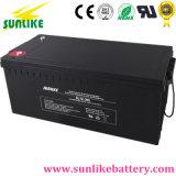 Batterie solaire 12V200ah de cycle profond exempt d'entretien pour le bloc d'alimentation