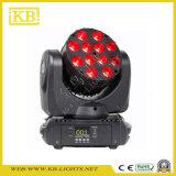 12PCS*10W indicatore luminoso capo mobile del fascio del quadrato LED