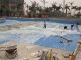 Mosaico de vidrio azul piscina