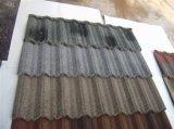 다채로운 물결 모양 돌 코팅 강철판