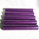 Vinilo púrpura de la PU de Tranfer del calor de Giltter para las materias textiles