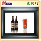 بلّوريّة صورة إطار [لد] [ليغت بوإكس] نحيلة لأنّ شراب قضيب أكريليكيّ يعلن لوح إعلان