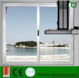 Ventana de cristal de aluminio de desplazamiento del perfil del grado superior hecha en China