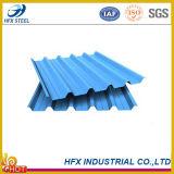 Feuille en acier ondulée trapézoïdale de toiture d'Ibr avec la couleur enduite
