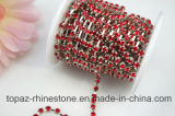 уравновешивание Rhinestones цепи конца Rhinestone цепи Rhinestone 3mm Сиам кристаллический (TCS-3mm Сиам)