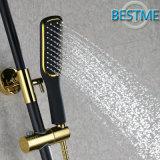 Negro Color de cobre amarillo de lujo ducha de lluvia conjunto (BF-60036K)