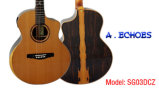 Высокая ранг полностью гитара твердого двойного кедра верхняя акустическая