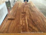 Suelo preacabado de la madera dura del acacia de Handscraped del camino del tabaco