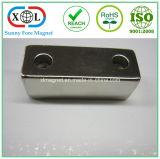 Magnete svasato del neodimio del blocco