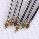 Papeterie promotionnelle en gros cadeau en plastique stylo bille noir avec haute qualité