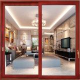 Guangzhou matériau aluminium frame feuille Double porte coulissante en verre avec stores horizontaux