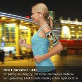Brazal de la seguridad LED del deporte del corredor para el teléfono celular