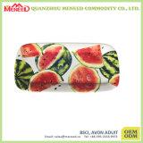 Plaque neuve de sushi de mélamine de modèle de forme oblongue