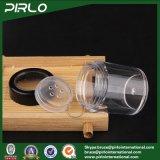 粉のふるいの緩い粉容器が付いている10g黒い空のプラスチック装飾的な瓶