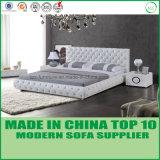 현대 가정 여가 진짜 가죽 2인용 침대