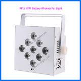 LED 무선 먼 동위 점화 9PCS*10W 사건 또는 단계 빛